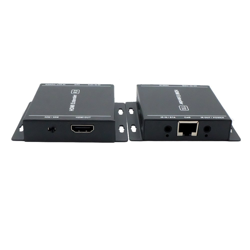 MY-HT218- HDMI Network Extender Over By Single Cat 6/7 Ethernet Cable Up to 60 Meters (196 Feets) Supports HD 1080P 3D EDID IR signal transmission NOTE : IR Control function requires optional IR TX