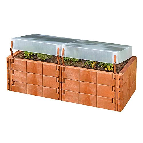 Exaco Trading Co. Twin Box 20375 Raised Bed with Cold Frame