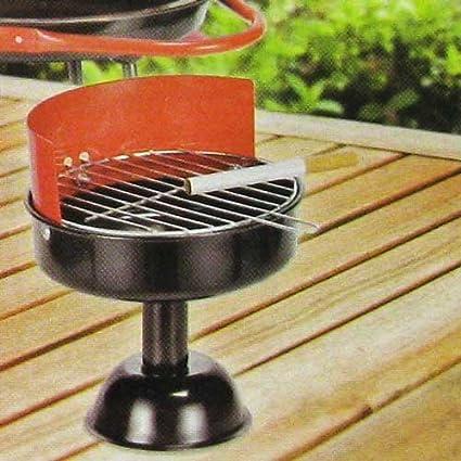 Cenicero – cenicero de metal diseño de barbacoa 11,5 cm, balcón diseño vasos