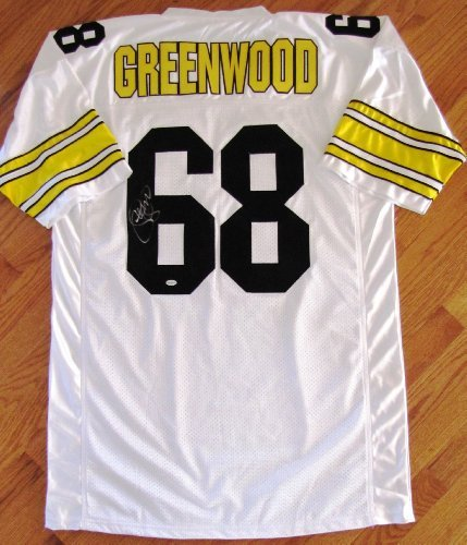 L.C. Greenwood Autographed White Jersey - Pittsburgh Steelers - Steel Curtain