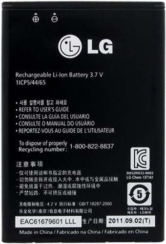 Non-Retail Packaging Original OEM LG BL-44JN EAC61679601 Battery for LG Phone Black