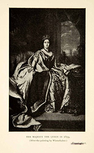 1898 Print Queen Victoria Monarch United Kingdom Royalty Empress India British - Original Halftone Print from PeriodPaper LLC-Collectible Original Print Archive