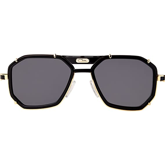 7a4ed9dbc7a Cazal 659 3 Sunglasses Shiny Black with Gold w Crystal Grey (001) 59mm  Authentic  Amazon.co.uk  Clothing