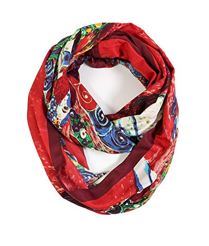 Scarfand's Mixed Color Oil Paint Infinity Versatile Fashion Scarf Head Wrap (Expressionism Red)