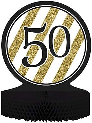 CAPRILO Lote de 2 Centros de Mesa Decorativos Black and Gold 50 ...