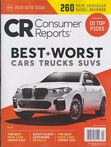Consumer Reports 2019 Auto Issue Best + Worst Cars Trucks Suvs