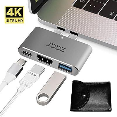 USB C Hub, JDDZ Type-C to HDMI 4K+USB 3.0+Thunderbolt 3 Port from JDDZ