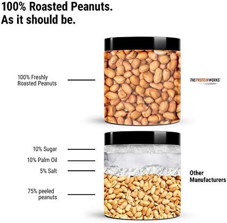 Mantequilla De Cacahuetes | 100% Natural | Apto Para Veganos | THE PROTEIN WORKS | Cremoso | 1kg