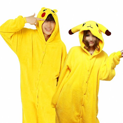 HEMOON Sleepsuit Pajamas Costume Cosplay Homewear Lounge Wear Pikachu XXL