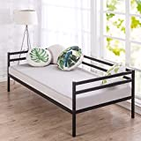 Zinus Split-Rail Twin Daybed Frame, Steel Slat Support