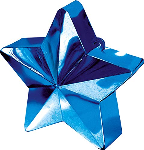 Blue Star Electroplated Balloon Weight | Party Decor