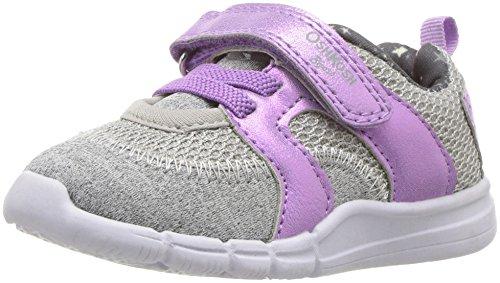 OshKosh B'Gosh Girls' Public Athletic Sneaker, Purple/Grey, 9 M US Toddler