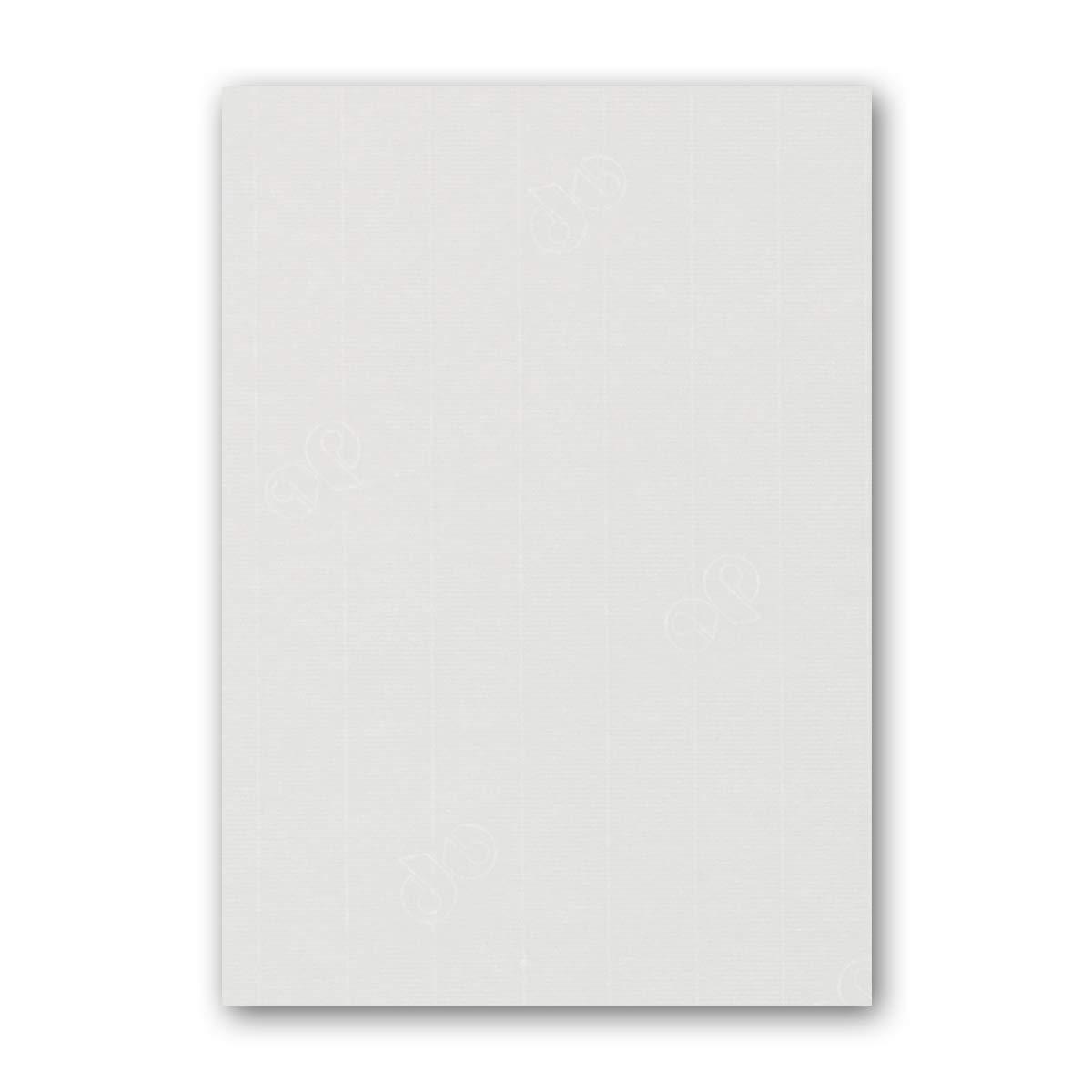 ARTOZ 150x Briefpapier + Bastelpapier Bastelkarton - Taupe - DIN A4 297 x 210 mm – Edle Egoutteur-Rippung – Hochwertiges 220 g m² Tonpapier – Scrapbooking Papier 211 - Weiß 100 Stück
