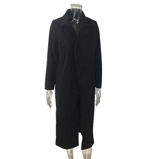 Vbn black wool trench coat