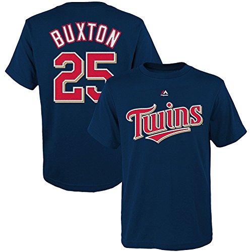 Outerstuff Byron Buxton Minnesota Twins #25 MLB Youth Player T-shirt Navy (X-Large)