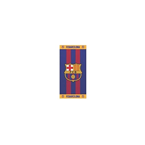 FCB FC Barcelona Toalla, 100% Poliester, Azulgrana, 70 x 140 cm