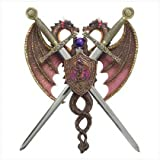 Gifts & Decor Mythical Sword Dragon Noble Castle Decor Coat of Arms