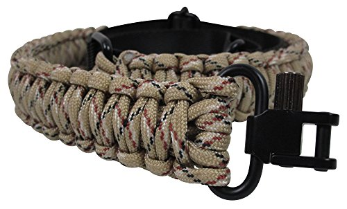 Waterfowl Gun Sling Paracord 550 Adjustable Length 2 Point Strap with Swivels On Both Ends for Rifle Shotgun and Crossbow Hunting Camping Tactical Survival Black (Digital Camo)