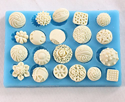 Anyana en forma de botón Candy Silicone Mold for Sugarcraft, Cake Decoration, Cupcake Topper, Fondant, Jewelry, Polymer Clay, Crafting Projects, Non stick easy to use