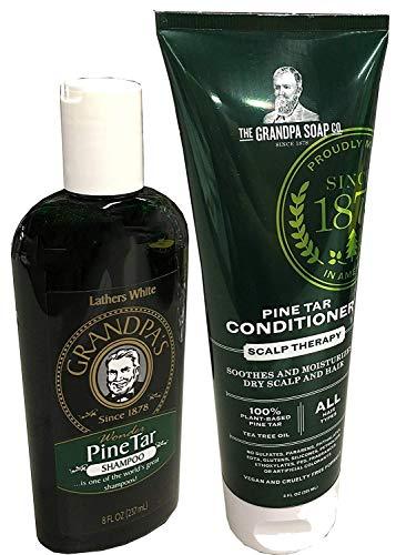 (Grandpa's Tar Bundle: Pine Tar Shampoo 8oz. and Pine Tar Conditioner 8oz)