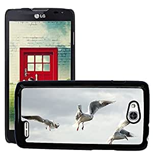 Hot Style Cell Phone PC Hard Case Cover // M00117161 Gulls Bird Fly Freedom Sky Lake // LG Optimus L90 D415
