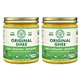 Grassfed Organic Original Ghee - by Pure Indian Foods, 7.8 oz, Pasture Raised, Gluten-Free, Non-GMO, Paleo, Keto-Friendly (Pack of 2)