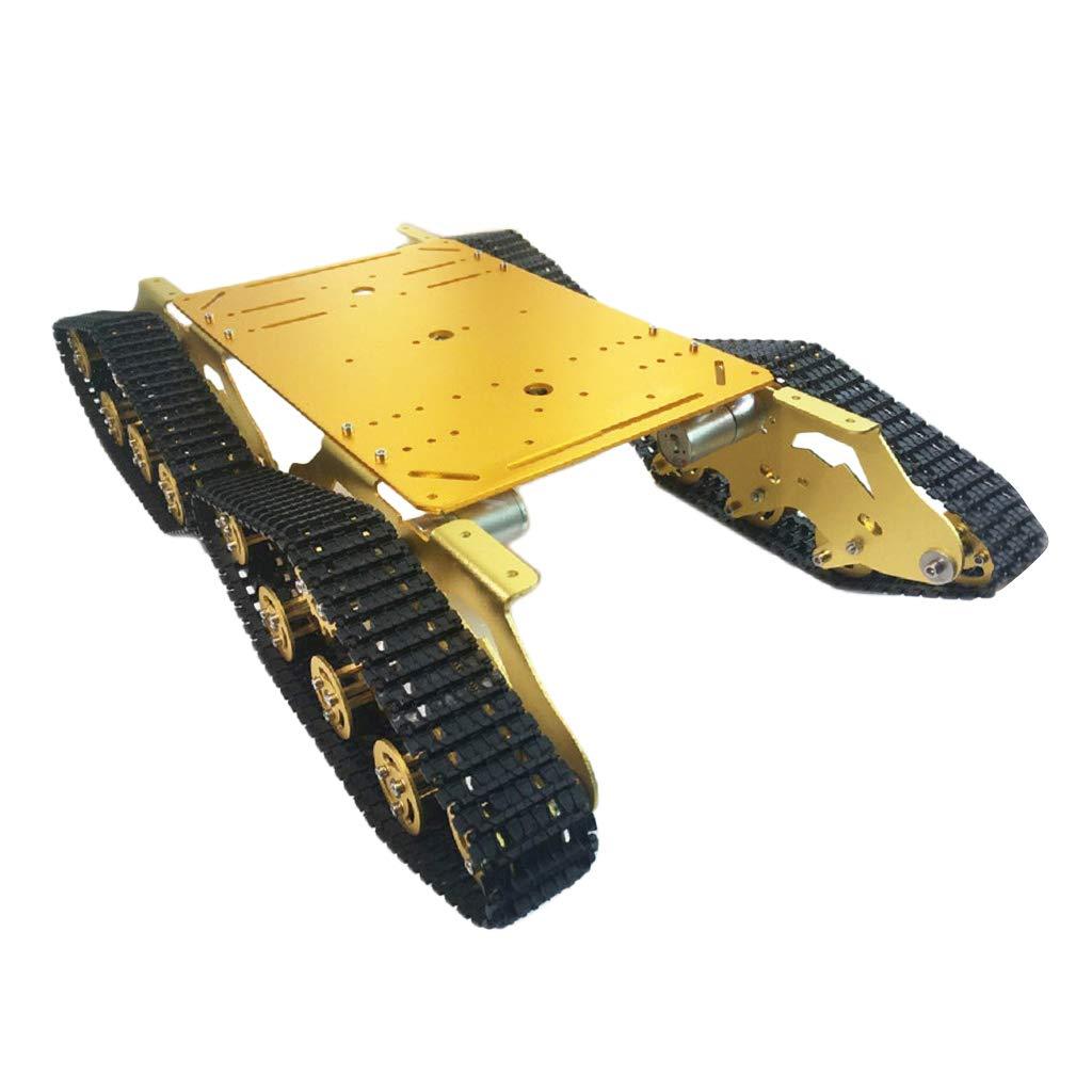 P P B07N8YV6RG Prettyia クローラー メタル タンク アンダーパンシャーシ カー DIY ゴールド Prettyia 55x28x11cm B07N8YV6RG, blade and co:831295ad --- 2017.goldenesbrett.net