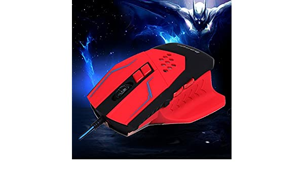 Broadroot profesional 3200DPI LED óptico con cable ratón para juegos para PRO Gamer - Candados laminados: Amazon.es: Electrónica