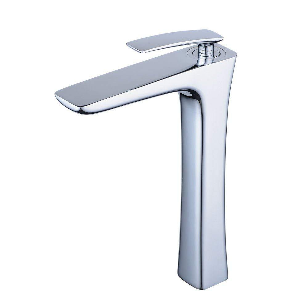 Modern Wasserhahn In Bad Messing Höhe Waschbecken Armatur Mischbatterie Einhebelmischer Badarmatur Für Badzimmer,Chrom -G.TZ