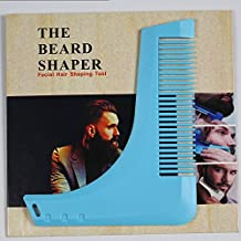 Prime Premium Upgrader Beard Shaping Tool Comb Beard Bro Brush with PC/ABS for Mens Grooming Kit Shaping Template Tool(Sky Blue Comb)