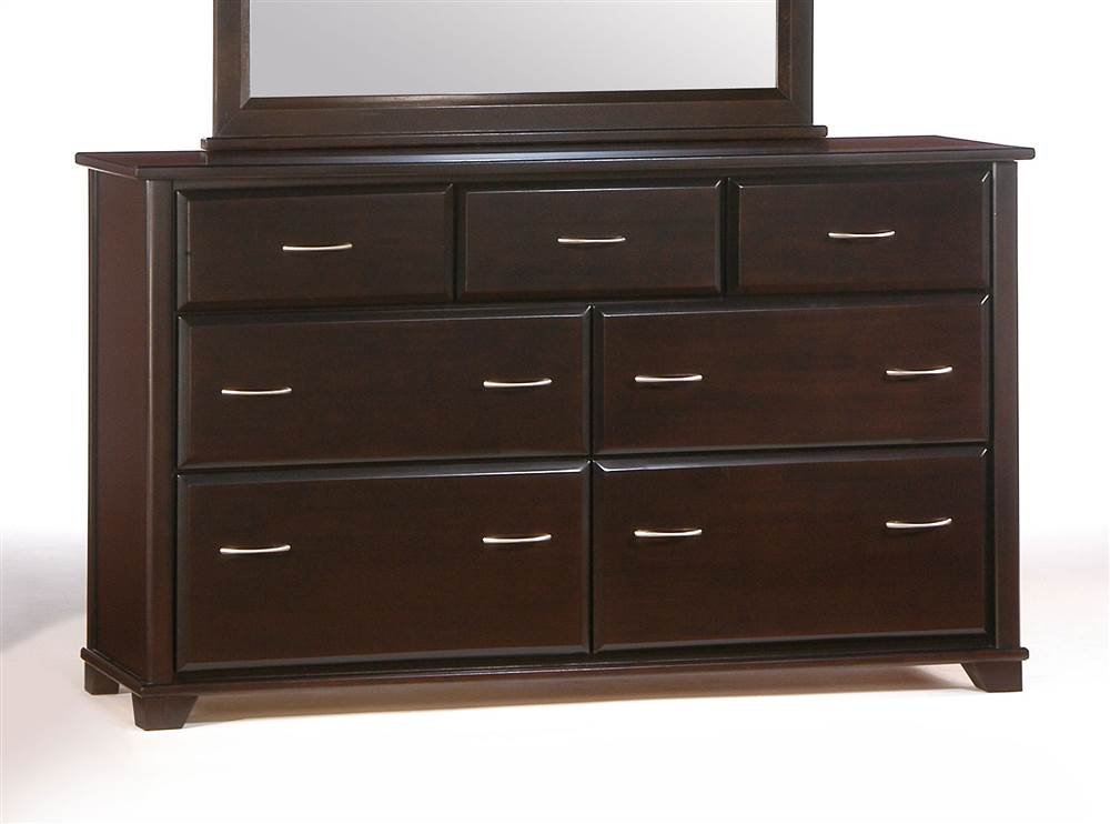 Large Dresser in Dark Chocolate Finish - Seven Drawers