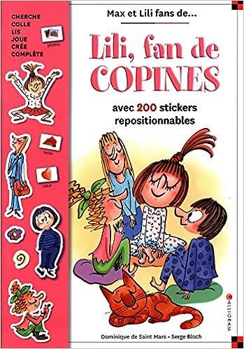 Download Online Lili, fan de copines : Avec 200 stickers repositionnables pdf, epub