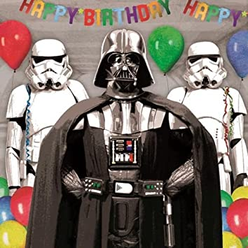 star wars carte danniversaire inscription happy birthday empire parti darth vaderstorm