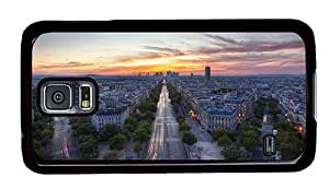 Hipster Samsung S5 customize case streets of paris PC Black for Samsung S5