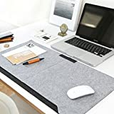 640*330 mm Warm Double-layer Multifunctional Office Desktop Mouse Pad With Pen Holder and 2 Pockets