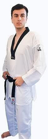 DAEDO Black V-Neck World Taekwondo المعترف به Ultra HiTech مقاس 190 سم -6
