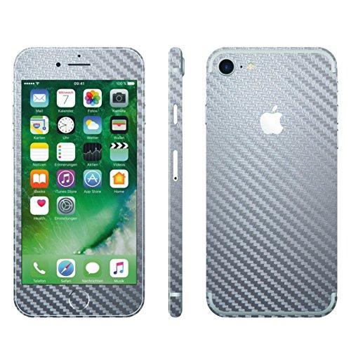 Iphone 7 Silber Carbon Folie Skin Zum Aufkleben Bumper Case