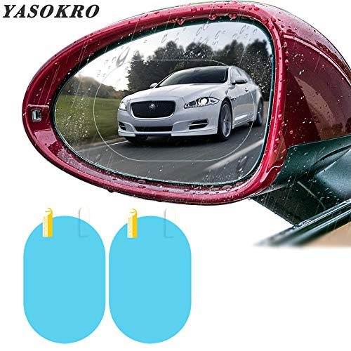 Car Blind Spot Mirror Film - 2 HD Anti-Fog Anti-Glare Anti-Scratch Waterproof Universal Auto Back Mirror Screen Nano Protective Films (13595mm)