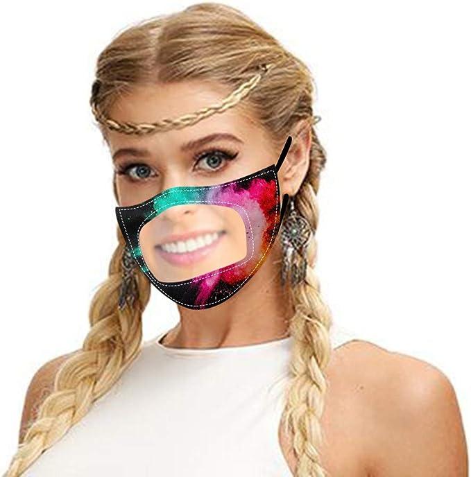 Luftverschmutzung SHUANGA transparent Hochentwickelte waschbare Nano Mund-und Nasen-Bedeckung,Wiederverwendbarer Gesicht- und Atmung Schutz gegen Staub Pollen Abgase