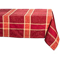 "DII 60x120"" Rectangular Cotton Tablecloth, Harvest Wheat - Perfect for Holiday, Fall, Thanksgiving, Dinner Parties or Everyday Use"