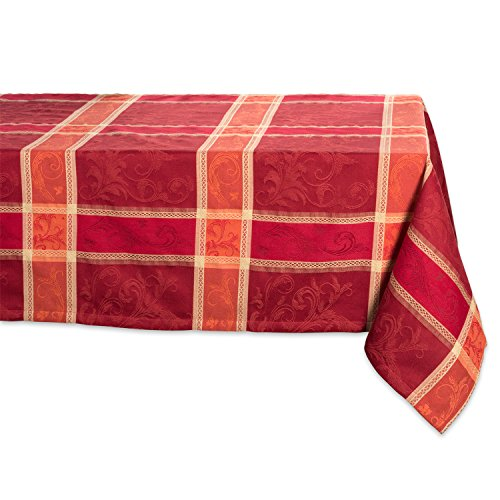 "DII 60x120"" Rectangular Cotton Tablecloth, Harvest Wheat - Perfect for Holiday, Fall, Thanksgiving, Dinner Parties or Everyday Use from DII"