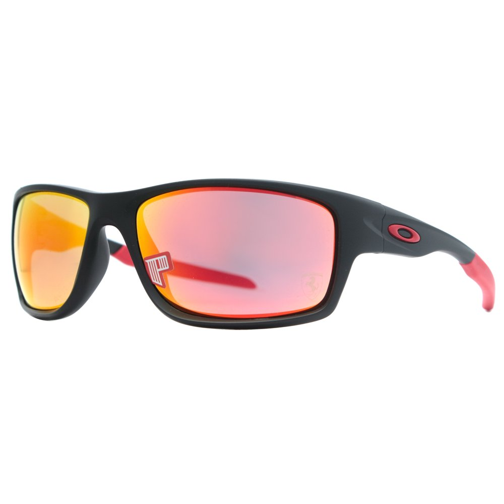 2a01365f6a Oakley Sunglasses Canteen 9225-06 Ferrari Matt Black Ruby Iridium Polarized   Amazon.co.uk  Clothing