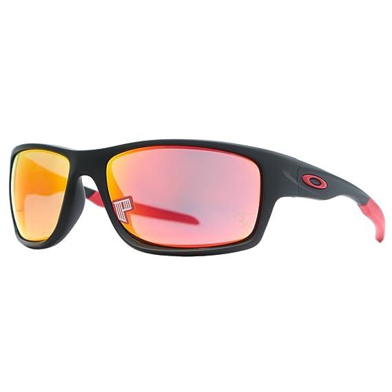 Gafas de sol Oakley Canteen 9225 - 06 Ferrari negro mate Ruby Iridium Polarizadas: Amazon.es: Ropa y accesorios