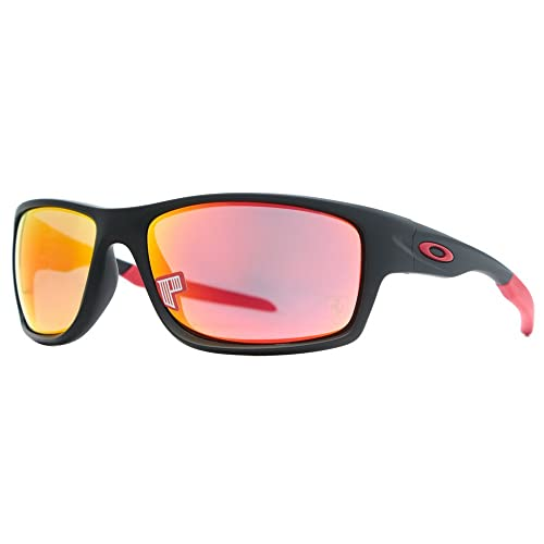 fc00a5e106 Oakley Mens Canteen Sunglasses (OO9225) Black Matte Red Plastic - Polarized  - 60mm