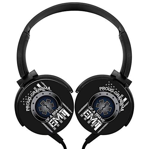MagicQ Proud Grandma of A Brave EMT Stereo Deep Bass Wired Headphones Earphones (Earphones Bravo Headphones)