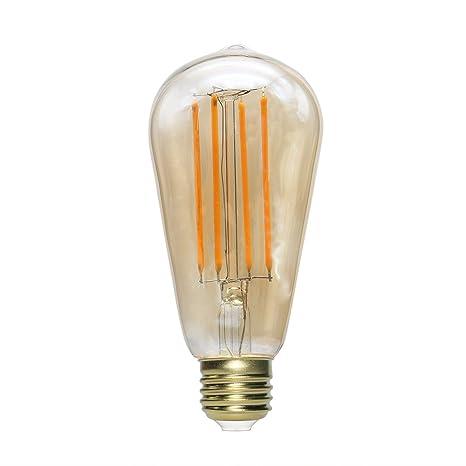 unclelight LED Edison bombilla ST18, E26 Base 2200 K intensidad regulable decorativo Vintage LED bombilla