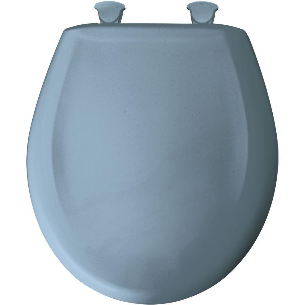 Bemis 200SLOWT 304 Lift-Off Plastic Round Slow-Close Toilet Seat Glacier Blue