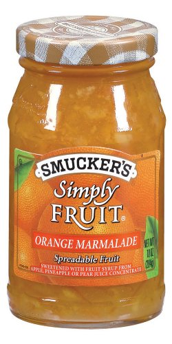 Smucker's  Simply Fruit  Orange Marmalade Spreadable Fruit, 10-Ounce (Pack of 6)