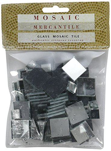 Mosaic Mercantile Mirrored Glass Tiles, Assorted Square, 100/Pack