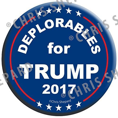 DEPLORABLES for TRUMP RALLY PACK BUTTONS!!! SIX 2017 Campaign BADGES! - 2.25 Inch Large Pinbacks! Gag Joke Funny! - Anti Hillary